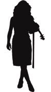 Sillouette Violin Girl | Violinist | String Soloist | Jenna Ma Honey